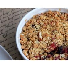Crumble cu fructe de padure si merdenchi (fara zahar)